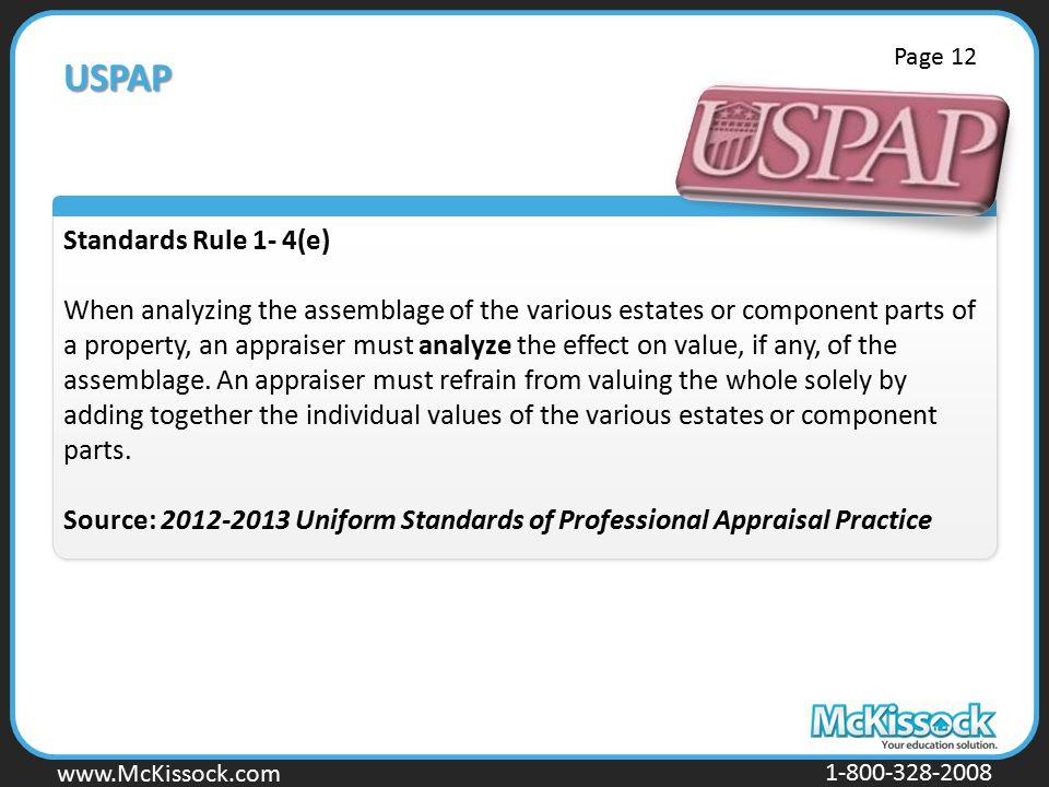 USPAP Standards Rule 1- 4(e)