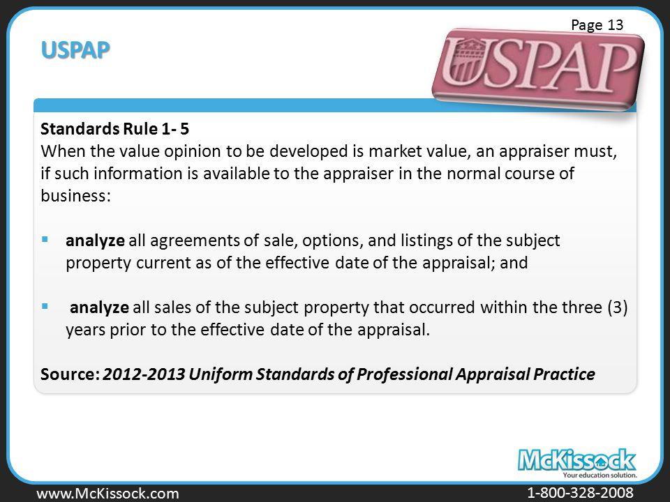 Page 13 USPAP. Standards Rule 1- 5.
