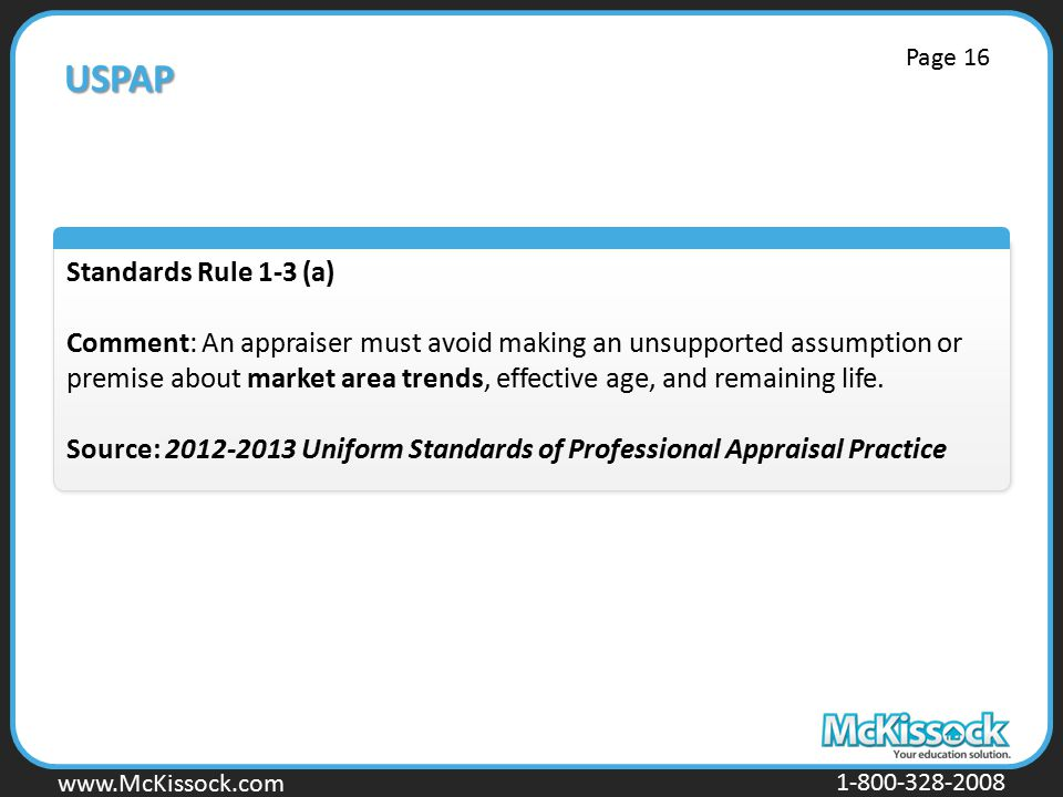 USPAP Standards Rule 1-3 (a)