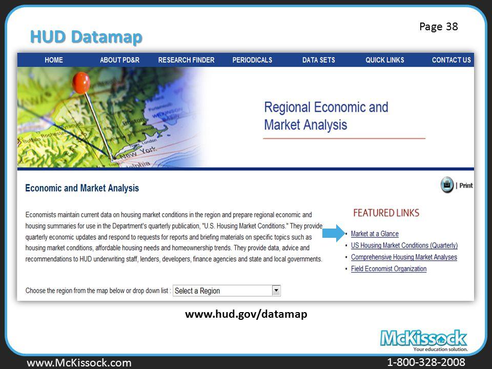 HUD Datamap Page 38 www.hud.gov/datamap