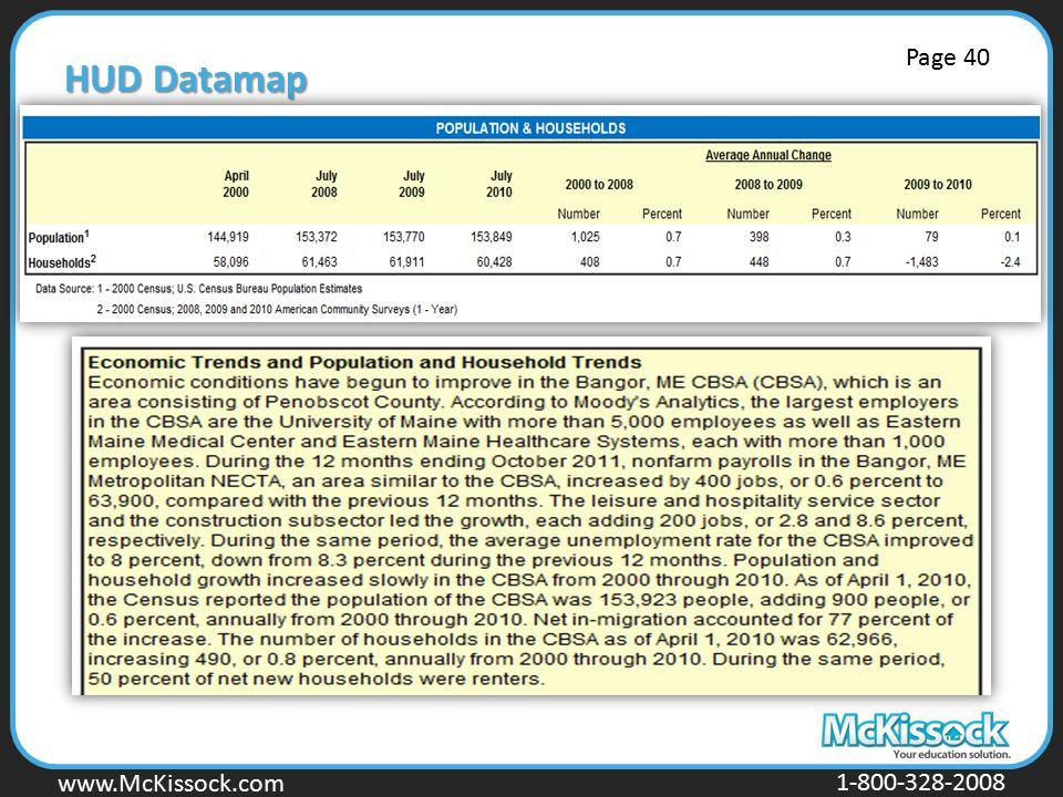 HUD Datamap Page 40.