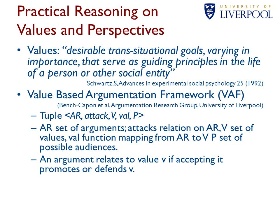 Practical Reasoning on Values and Perspectives