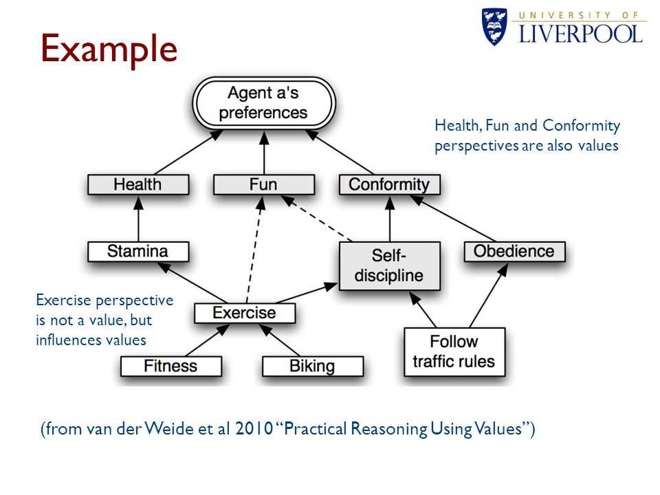 Example Health, Fun and Conformity perspectives are also values. Exercise perspective is not a value, but influences values.