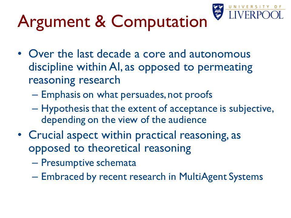 Argument & Computation