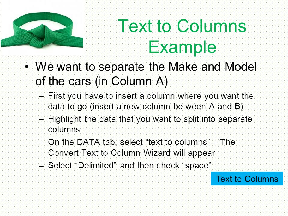 Text to Columns Example