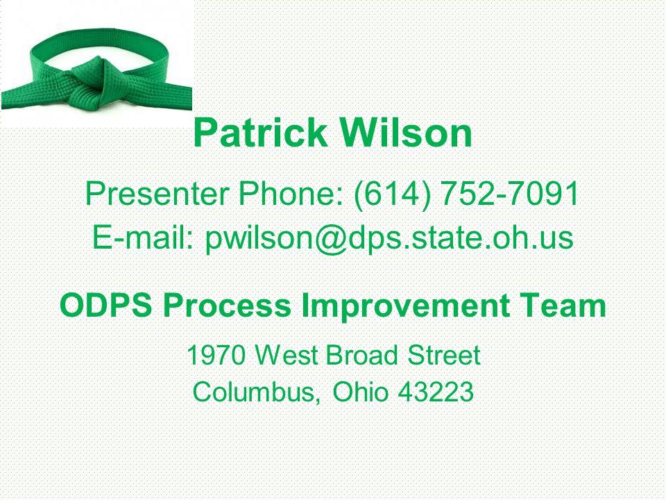 ODPS Process Improvement Team