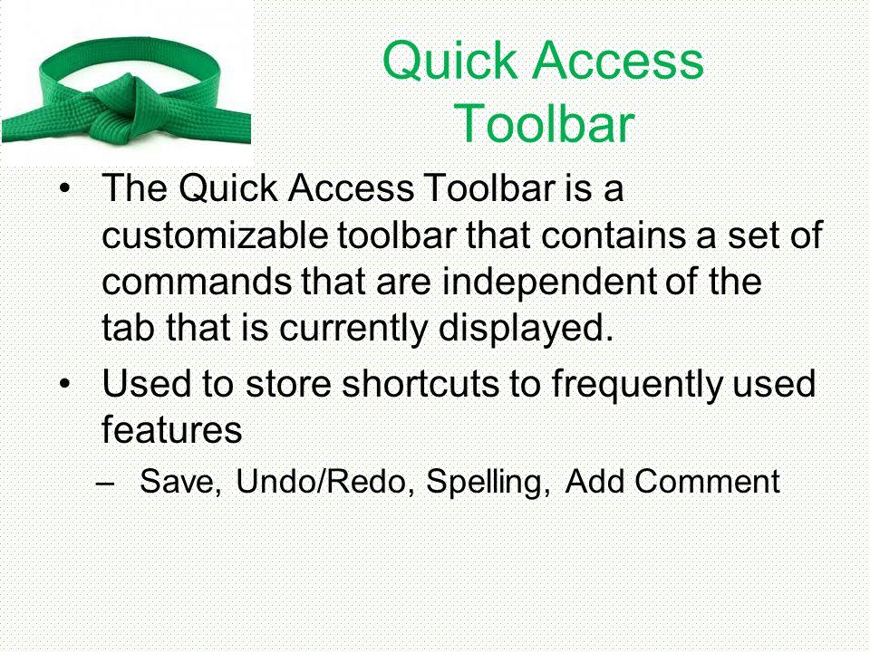 Quick Access Toolbar