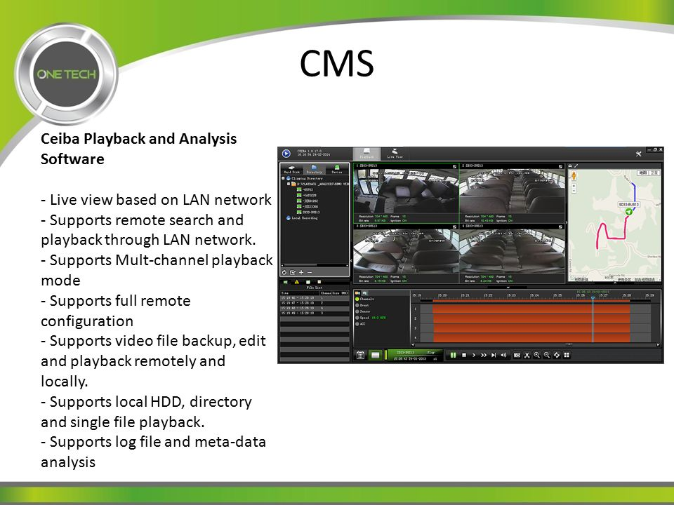 CMS Ceiba Playback and Analysis Software