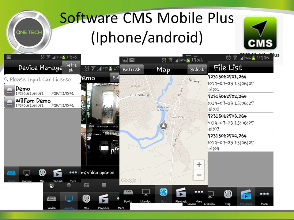 Software CMS Mobile Plus (Iphone/android)