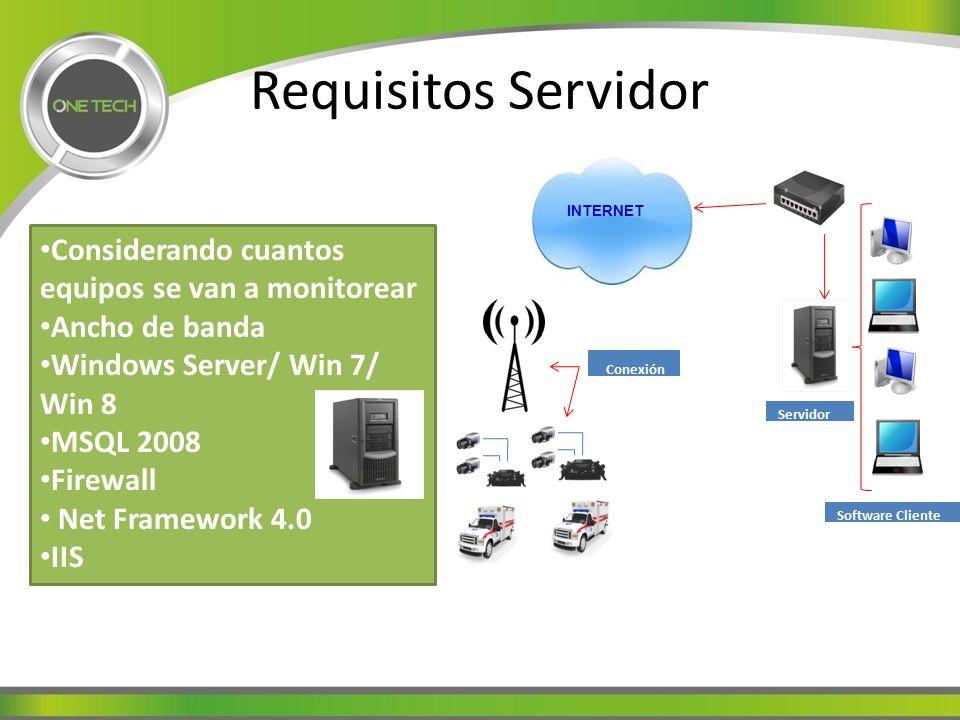 Requisitos Servidor Considerando cuantos equipos se van a monitorear