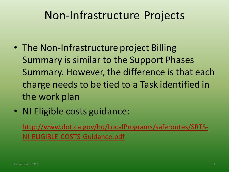 Non-Infrastructure Projects