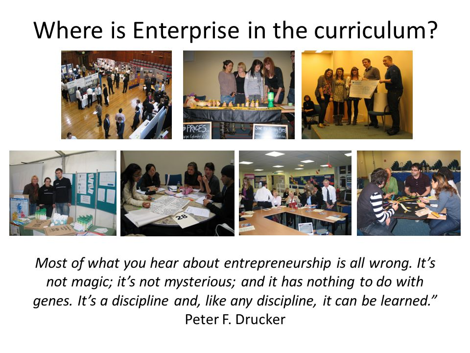 Where is Enterprise in the curriculum