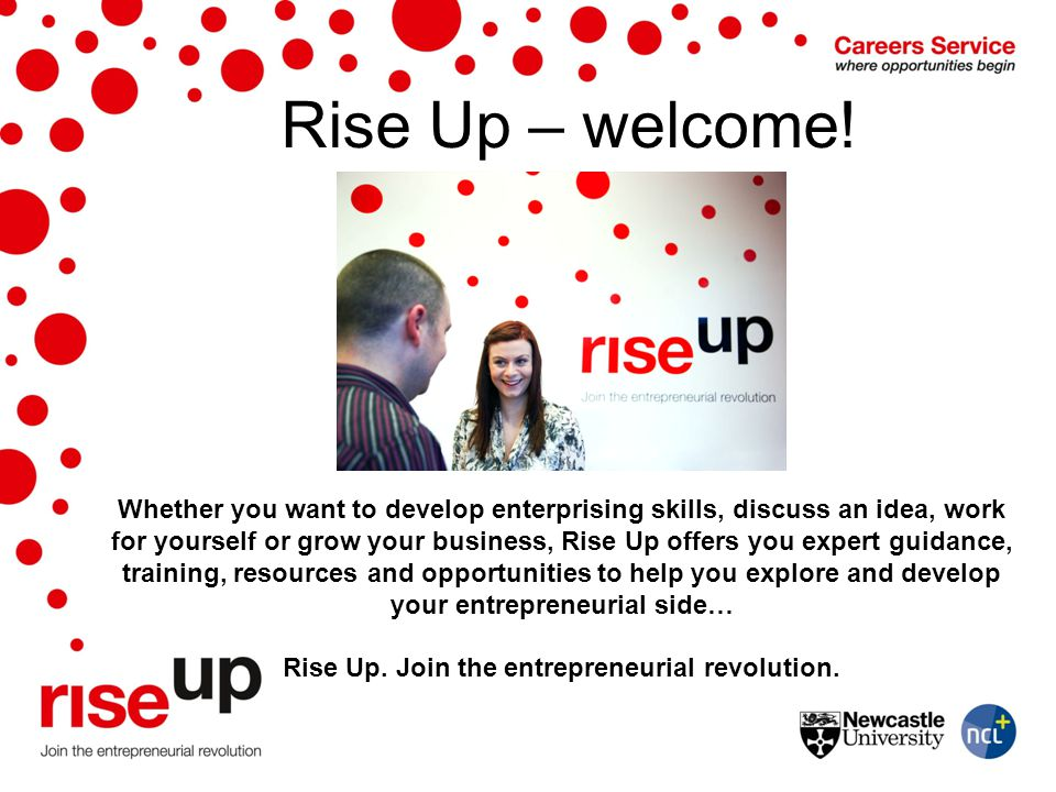 Rise Up – welcome!