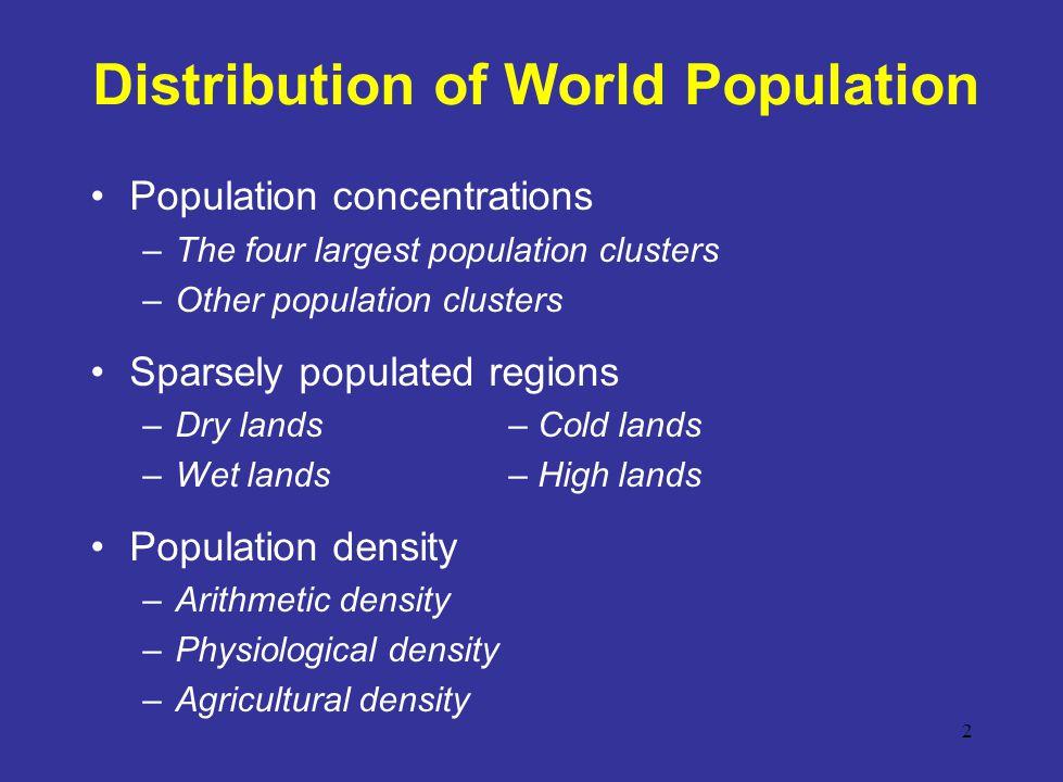 Distribution of World Population