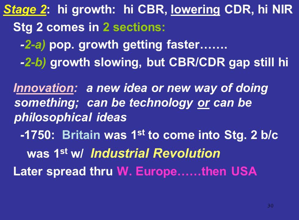 Stage 2: hi growth: hi CBR, lowering CDR, hi NIR