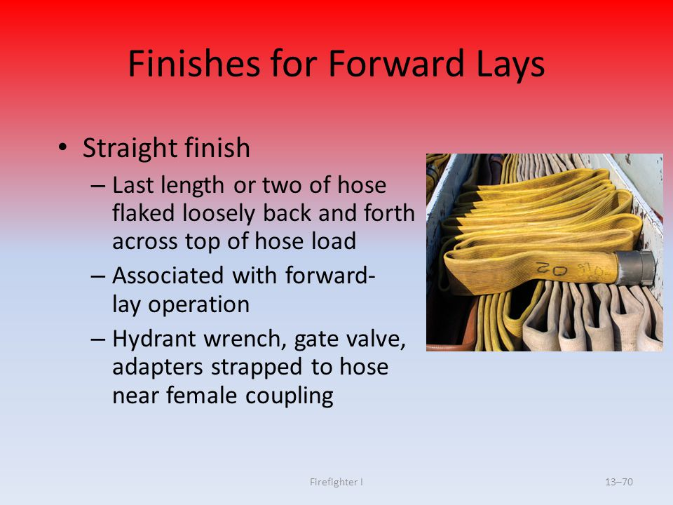 Finishes for Forward Lays