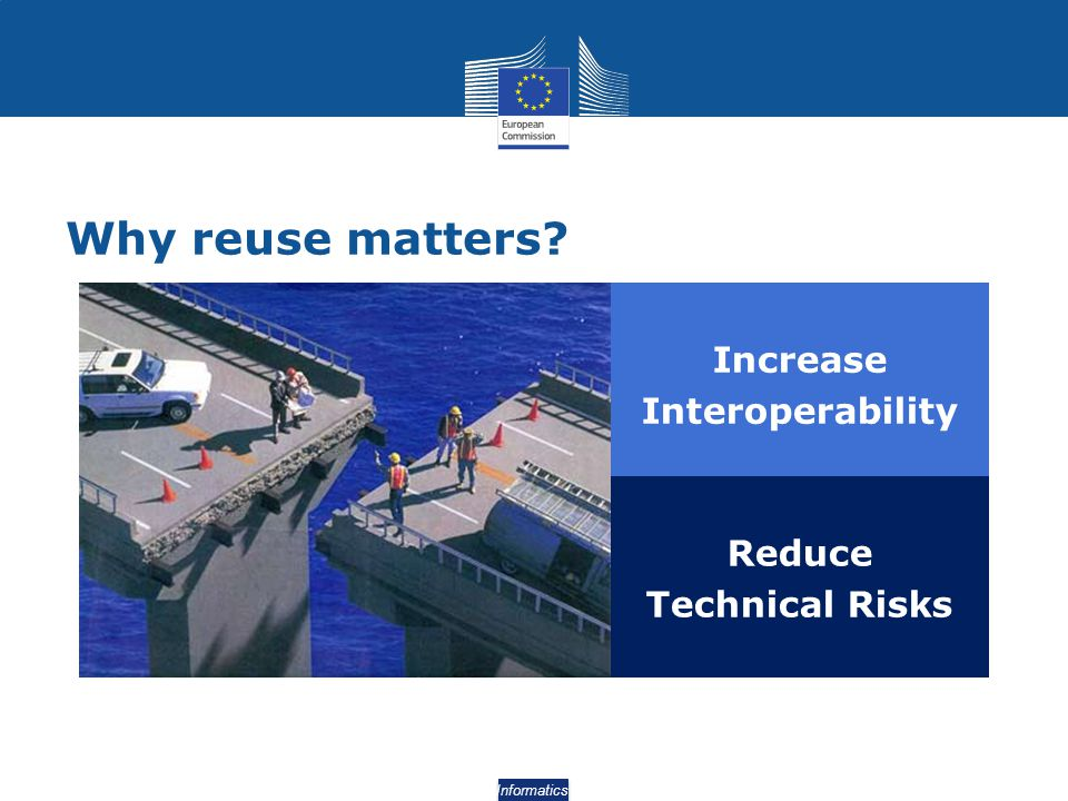 Why reuse matters Increase Interoperability Reduce Technical Risks