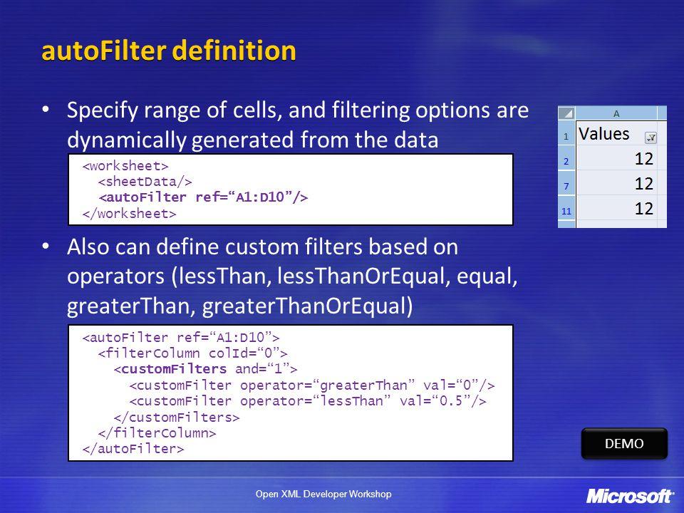 autoFilter definition