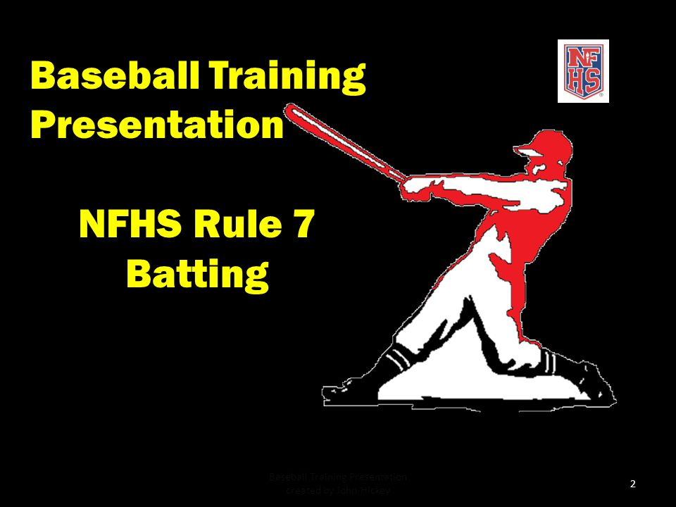 Baseball Training Presentation created by John Hickey
