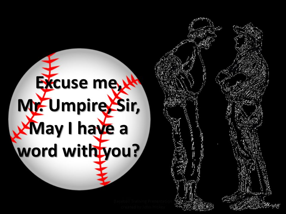 Mr. Umpire, Sir, May I have a word with you
