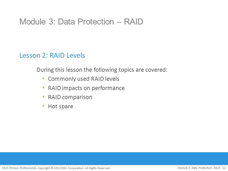 Module 3: Data Protection – RAID