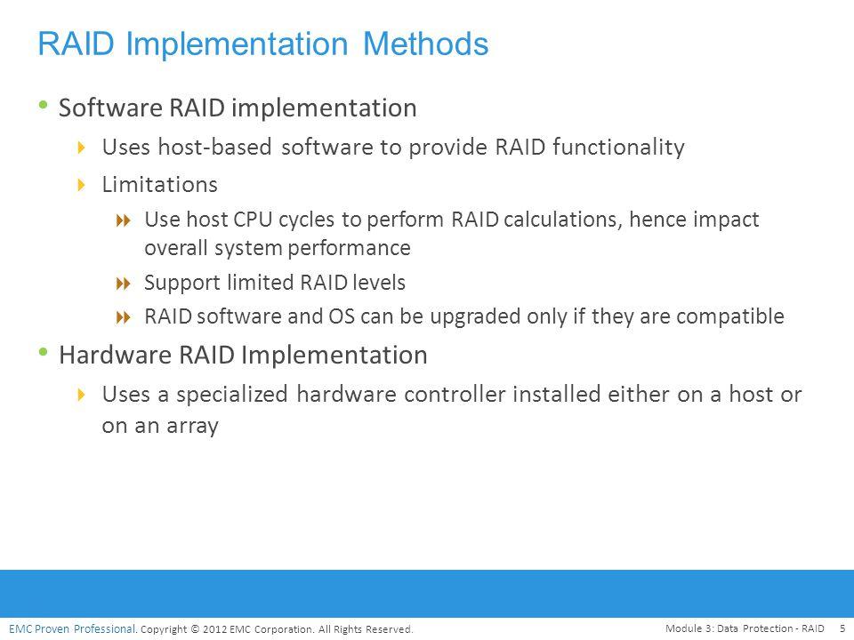 RAID Implementation Methods