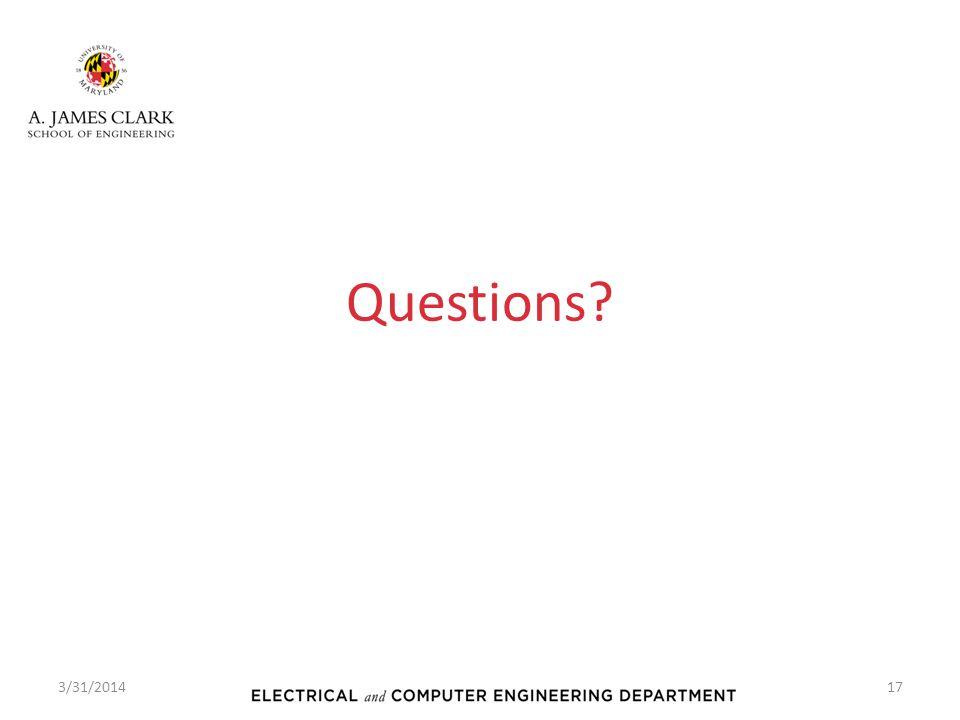 Questions 3/31/2014