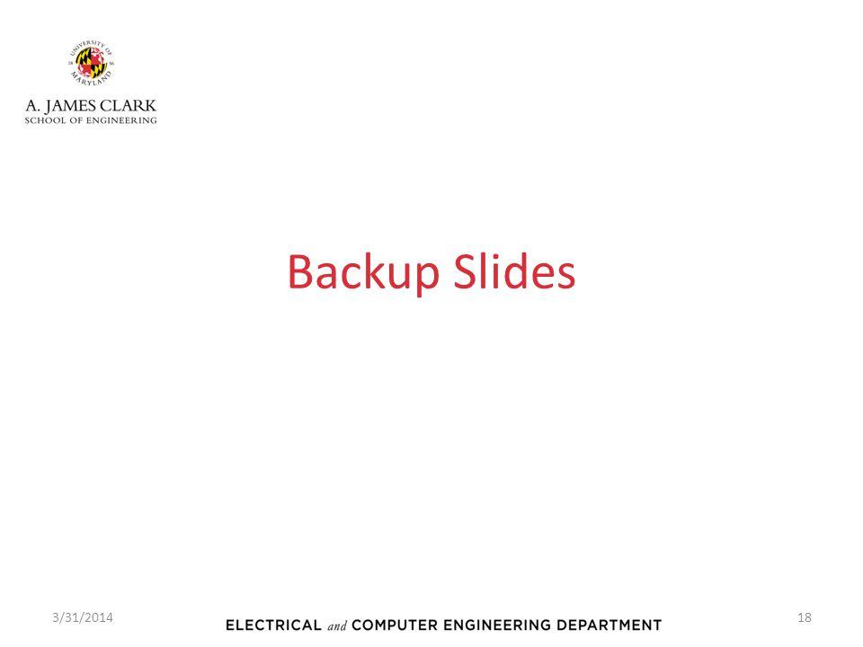 Backup Slides 3/31/2014
