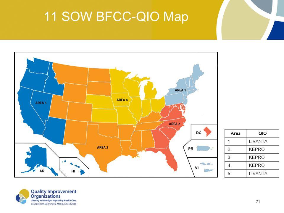 11 SOW BFCC-QIO Map Area QIO 1 LIVANTA 2 KEPRO 3 4 5