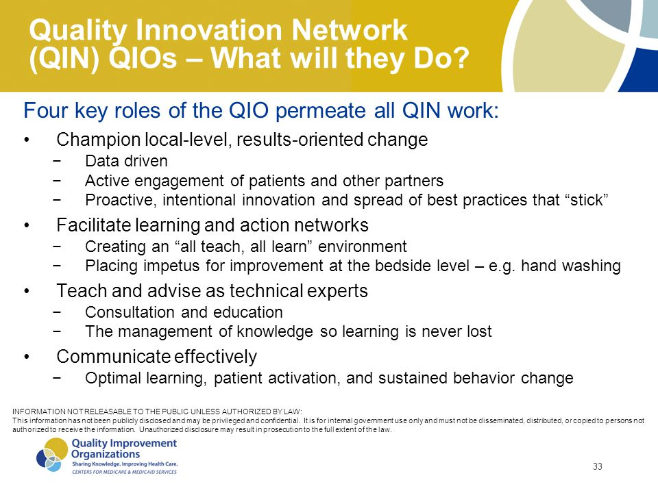 Quality Innovation Network (QIN) QIOs – What will they Do