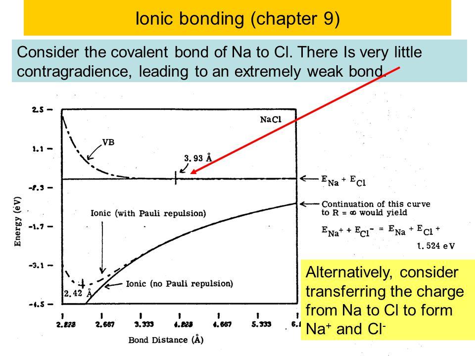 Ionic bonding (chapter 9)