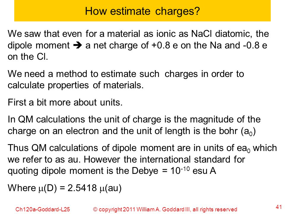 How estimate charges
