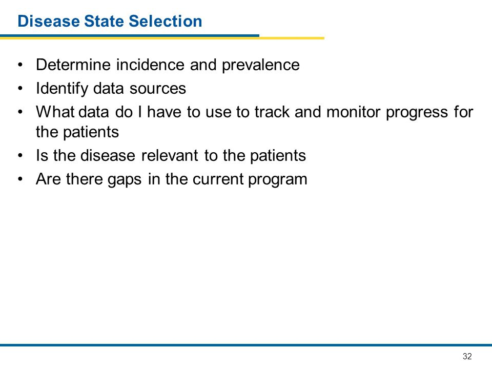 Disease State Selection