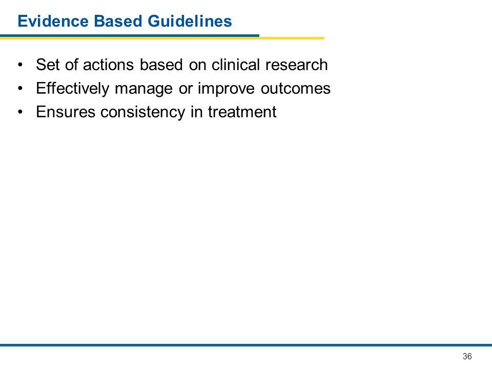 Evidence Based Guidelines