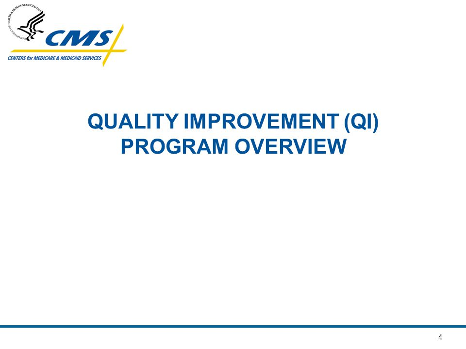 QUALITY IMPROVEMENT (QI) PROGRAM OVERVIEW