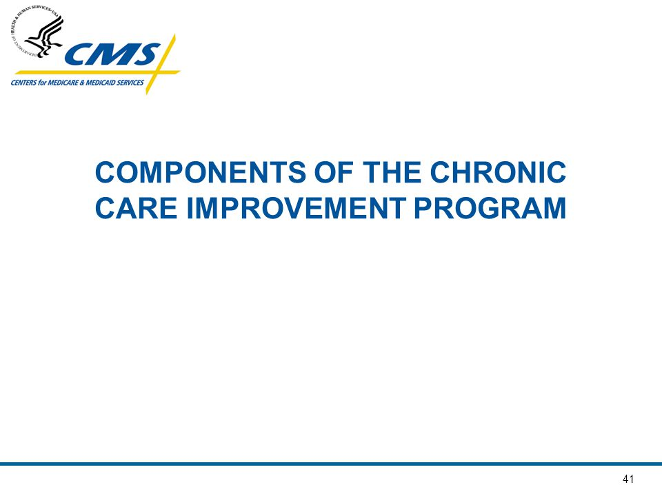 COMPONENTS OF THE CHRONIC CARE IMPROVEMENT PROGRAM