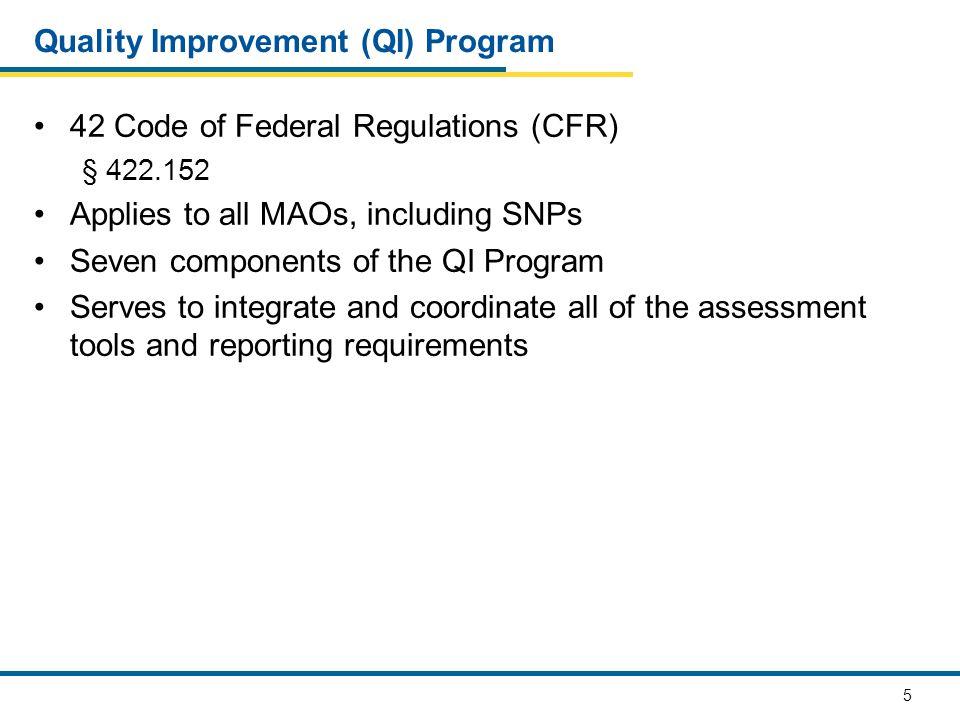 Quality Improvement (QI) Program