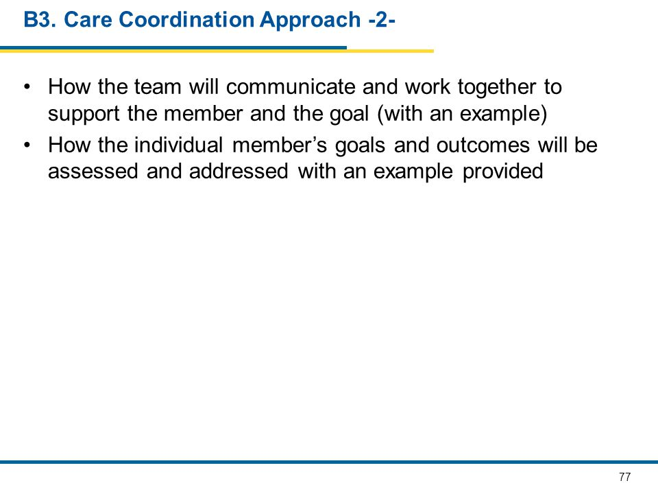 B3. Care Coordination Approach -2-
