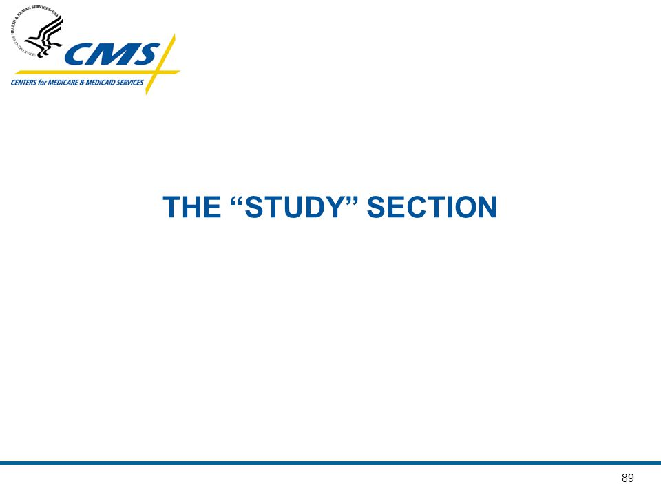 THE STUDY SECTION