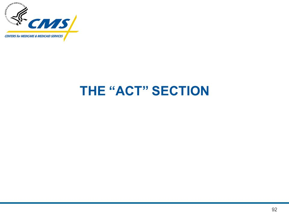 THE ACT SECTION