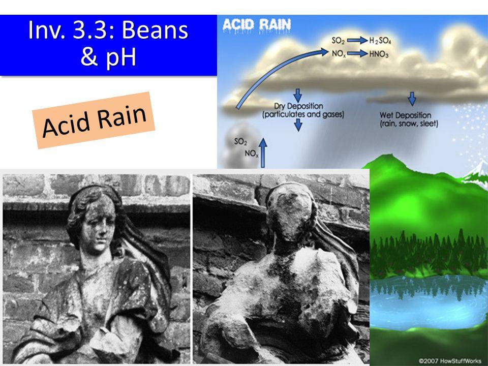 Inv. 3.3: Beans & pH Acid Rain