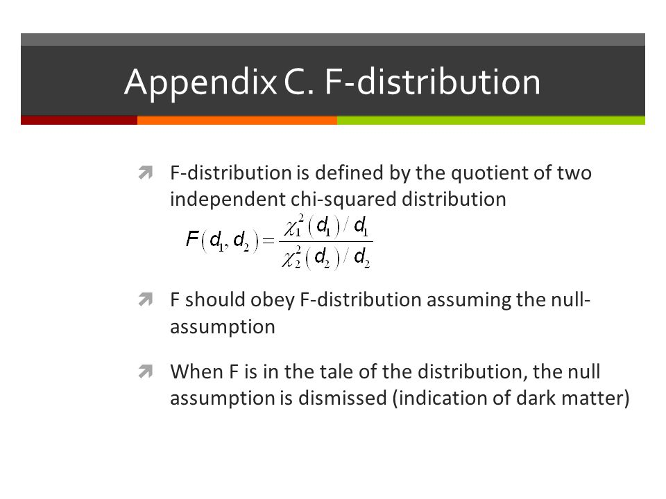 Appendix C. F-distribution