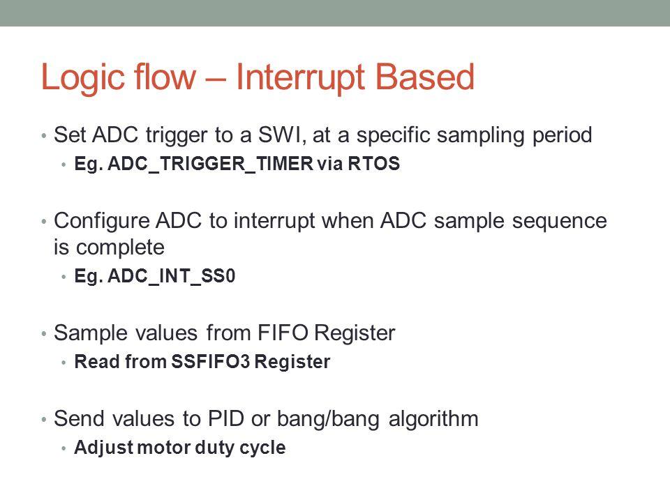 Logic flow – Interrupt Based
