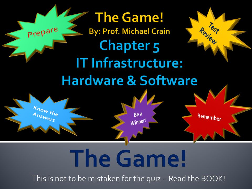 This is not to be mistaken for the quiz – Read the BOOK!
