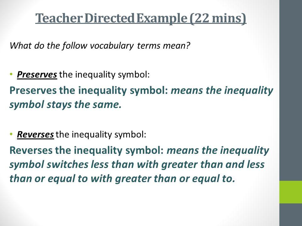Teacher Directed Example (22 mins)