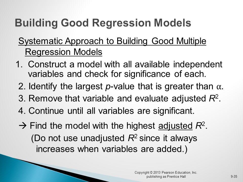 Building Good Regression Models