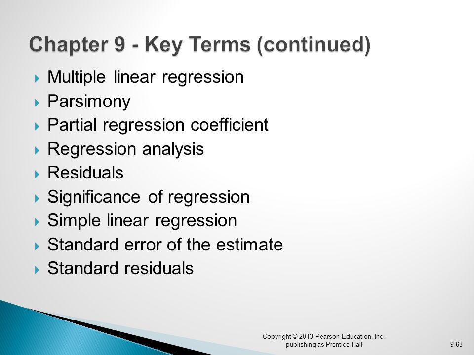 Chapter 9 - Key Terms (continued)
