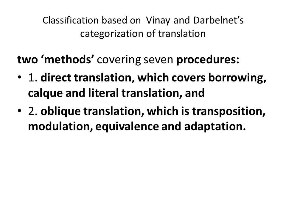 two 'methods' covering seven procedures: