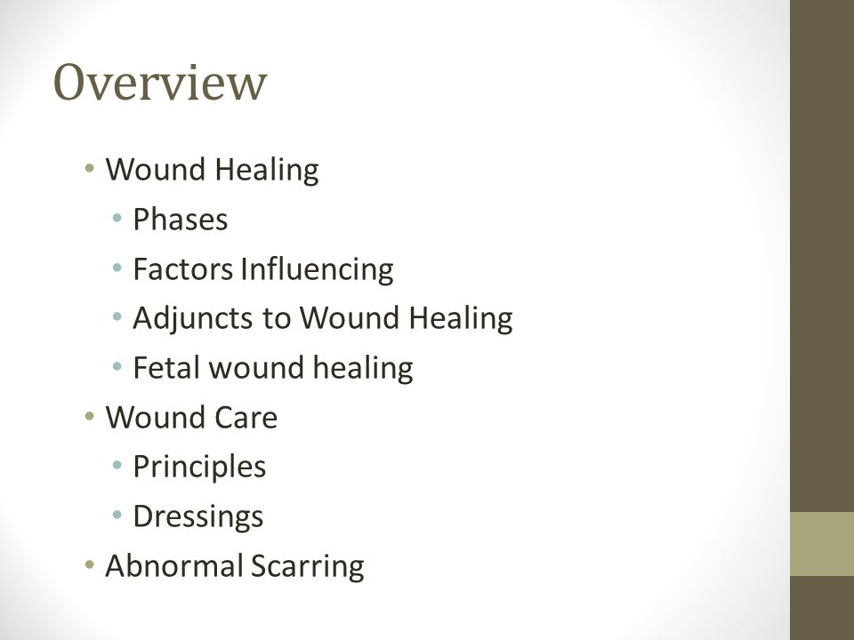 Overview Wound Healing Phases Factors Influencing