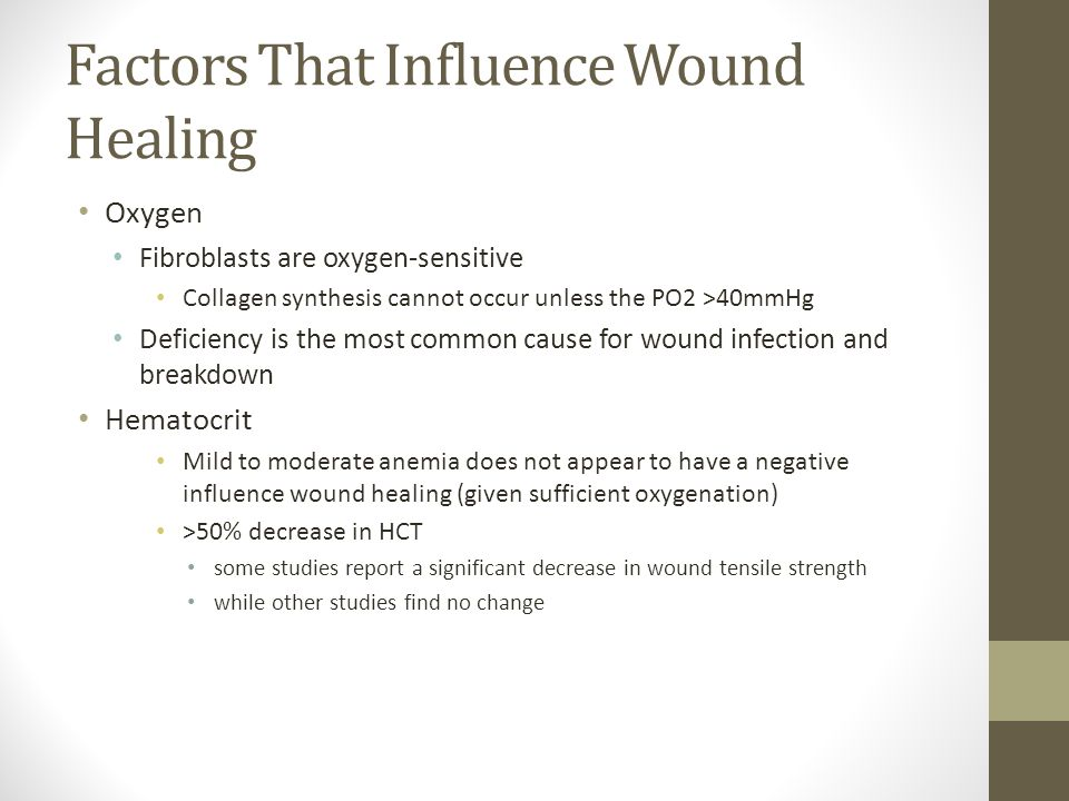 Factors That Influence Wound Healing